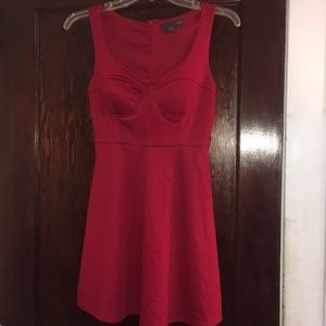 Brilliant Red Mini Dress, size small!